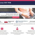 Platforma e-learningowa Wyższej Szkoły Bankowej we Wrocławiu